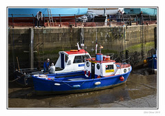 Sir Tristram (Seven_Wishes) Tags: newcastleupontyne canoneos5dmarkiv canonef24105mmflisii outdoor photoborder jo 2019 ouseburn quayside water rivertyne boats peoplelowtide mud blue wall ladder views3k