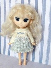 Long time no see... (feltland) Tags: feltland odeco petworks handmade knittingcrochet outfit craft doll muñeca boneca