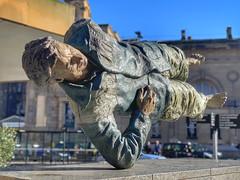 Floating Man (FotoFling Scotland) Tags: newcastle england sculpture mensculpture lowergraingerstreet seanhenry