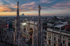 2019 Milano Evening (jeho75) Tags: sony rx100m3 zeiss italien italy italia milano mailand galleria vittorio emanuele ii rooftop duomo architektur architecture sunset