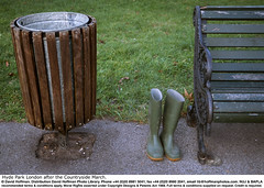 "Bin In Park 1 (hoffman) Tags: basket bench bin boot cast galvanisation galvanised grass horizontal iron outdoors park rubber rubbish seat steel waste wellington wood davidhoffman wwwhoffmanphotoscom london uk davidhoffmanphotolibrary socialissues reportage stockphotos""stock photostock photography"" stockphotographs""documentarywwwhoffmanphotoscom copyright"