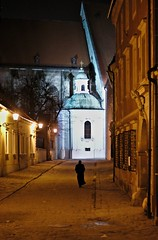 On the way of solitude (vlado905) Tags: bratislava slovakia monk night street cathedral europe religion 50mm canoneos200d eos200d