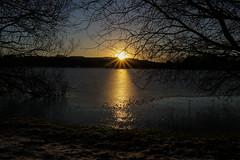 Frozen lake (A Costigan) Tags: sunrise lake frozen sun reflection canon80d theworldisbeautifu