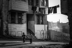 Children (K.BERKİN) Tags: mosque antique walk way eminonu turkey tourism human oldcity oldistanbul people street streetphoto streetphotograpy goldenhorn kid kidgame life leica istanbul city child children blackwhite mirroless