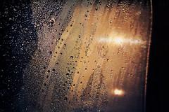 Of the essence (Melissa Maples) Tags: karagöllü turkey türkiye asia 土耳其 apple iphone iphonex cameraphone winter aerial droplets raindrops rain water window orange dawn sunrise sunflare lensflare flare black