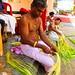 Preparation for Theyyam ceremony