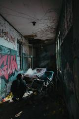 Exhale (rantropolis) Tags: abandoned asylum nyc portrait photographer nikon d d750 urbex urbanexploration urbexer smoke exhale vapour vapor psychiatric center
