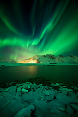 Night Moves (wboland) Tags: a7riii night northernlights wboland sony stars lofoten norway green nightscape 2019 auroraborealis february
