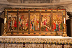 IMG_5209  The Despenser Reredos (c. 1380) in St. Lukes Chapel (Beth Hartle Photographs2013) Tags: norfolk norwich cathedral anglican ancient historic benedictine monastery churchofengland painting c1380 13thcentury