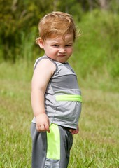 The Look! (The Vintage Lens) Tags: toddler male boy