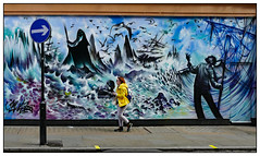 All at Sea (donbyatt) Tags: london soho jimvision mural streetart urban walls spraycans candid people yellow