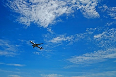 take-off (t.horak) Tags: blue white clouds sky airplane air craft plane fly flying takeoff