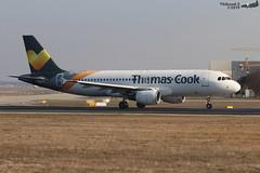 Airbus A320 -214 THOMAS COOK YL-LCO 1873 Francfort janvier 2019 (Thibaud.S.) Tags: airbus a320 214 thomas cook yllco 1873 francfort janvier 2019