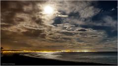 Moonrise above Almerimar (Luc V. de Zeeuw) Tags: almerimar city clouds cloudy coast coastline mediterranean moon moonrise night sea water elejido andalusia spain