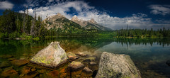 Jenny Lake (PrevailingConditions) Tags: lake mountains grandtetons nps rocks trees landscape panorama reflection water clear