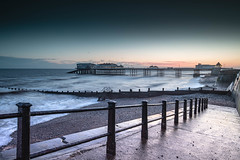 Just Catching the Light (andybam1955) Tags: landscape winter cromerpier pier coastal dawn sky northnorfolk rural cromer norfolk sea