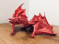 Smaug (Lê Huỳnh Đức) Tags: origami origamidragon dragon fantasy art smaug thehobbit