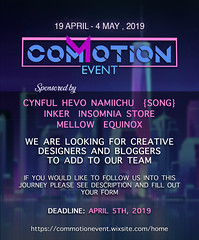 Commotion Event Designer and Blogger applications are now open! (Colbie Hill (Commotion Event)) Tags: application commotionevent designer blogger secondlife sl event eventsl