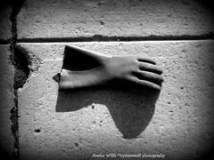 """The rubber glove"" (Ivy1111) Tags: wierd litter city garbage trash street sidewalk"
