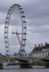 London Eye by the River Thames (RedPlanetClaire) Tags: london capitol city england uk eye bridge river thames
