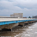 High Waters on Des Moines River - Bridge View Center, Ottumwa, I