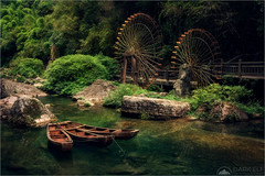 Ancient Village (Darkelf Photography) Tags: xiling gorge yangtze river threegorges tribe village fishermen waterwheel rainforest stream boat culture history landscape nature outdoors travel china asia tranquility canon nisi 24105mm 5div maciek gornisiewicz darkelf photography ancientvillage 2018