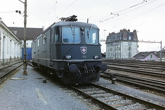 SBB 11231 (bobbyblack51) Tags: sbb class re44 slm bbcmfosaas bobo electric locomotive 11231 lausanne depot 1994