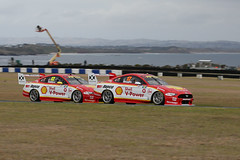 Start 1-2 ~ Finish 1-2     (1/2) (Jungle Jack Movements (ferroequinologist)) Tags: shell v power teammates team ford mustang gt v8 stang pony virgin australia supercars phillip island grand prix 12 17 scott mclaughlin fabian coulthard new zealand motor racing pass race speed car cars hottie track practice pole position times timing hard competition competitive event saloon sports racer driver mechanic engine oil petrol build fast faster fastest grid circuit drive helmet marshal starter sponsor number class motorsport classic dick johnson penske djr close bass strait cowes