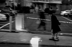 Old man walking with  ghost (Capitancapitan) Tags: walking pentax black white street neury luciano urim y tumim merengue pop rock ghost old man