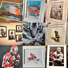 Best nine of 2018!! (GP1805) Tags: art artist draw drawing inkdrawing oils ink paintings boxer boxing hagler tyson kingfisher boys girls charlie chaplin laurel hardy cat fireengine fire firebrigade