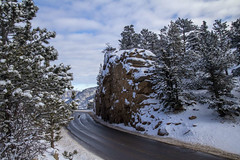 Wet Road (noname_clark) Tags: rockymountainnationalpark outdoor hike snow lillymountain road street wet