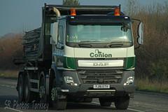 DAF CF Conlon YJ16 ETV (SR Photos Torksey) Tags: transport truck haulage hgv lorry lgv logistics road commercial vehicle freight traffic daf cf conlon