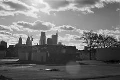 Streets of Philadephia: 10th & Girard (phillyfamily) Tags: events philadelphia philadelphie analogue argentique digitization film flare janvier2018 noirblanc nuage numérisation étatsunis