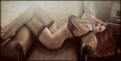 ......just a cigar (morganmonroe1) Tags: artis aleutia stylepantyhose argrace ncore mg maxigossamer lumipro cigar lingerie stockings ginger redhead redlips sexy sensual seductive