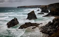 Windy and wild on the Cornish coast (henryobew) Tags: bedruthan storm epic waves landscapes cornwall coast