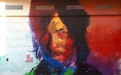 Gracia- Barcelona (chriskatsie) Tags: décoration decoracion graffiti paint peinture face visage retrato
