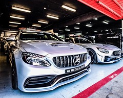 Medical cars (BadGunman) Tags: pitlane fia f1 formule1 formula1 formulaone stop line red power catalunya circuit barcelona silver mighty monster mercedesamg amg mercedes cars car medicalcar medical