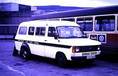 Slide 133-01 (Steve Guess) Tags: merthyrtydfil wales gb uk bus taxi taxibus ford minibus skyliner transit dtc199w
