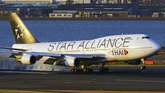 Boeing 747-4D7, HS-TGW, Thai Airways International (Star Alliance Livery) (tkosada.mac) Tags: thaiairwaysinternational staralliance boeing b744 tokyointernationalairport hanedaairport hnd rjtt