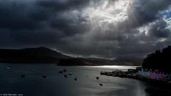 Don't be afraid of the weather. (Neil. Moralee) Tags: neilmoralee skye2019 portree harbour scotland skye sky isle water sea ocean boats storm gareth uk britain clouds sunshine houses color colour dramatic weather shelter raasay neil moralee olympus omd em5 landscape seascape loch