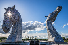 The Kelpies (Philippe POUVREAU) Tags: 2018 scotland kelpies falkirk ecosse stainlesssteel sculptures andyscott horses heads chevaux clydesdalehorses forthclydecanal stirling royaumeuni