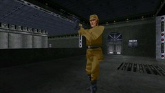 Imperial Officer #1 (BarricadeCaptures) Tags: starwars starwarsjediknightdarkforces2 starwarsjediknightdarkforcesii starwarsjediknight jediknightdarkforces2 jediknightdarkforcesii jediknight darkforces2 darkforcesii intothedarkpalace baronshed thefallencity sulon darkpalace imperial imperialofficer blasterpistol switches doors gamescreenshots gamephotography videogame screencapture screenshot screencap
