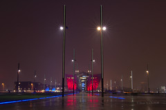 TitanicBuilding1 (CharlesM-2) Tags: belfast night longexposure lights ireland northernireland countyantrim coantrim unitedkingdom charlesm charlesm2 shadowpm2 titanic titanicquarter colour
