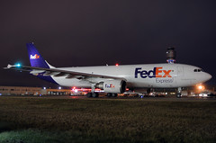 N679FE FedEx Express A300F4-605R at KCLE (GeorgeM757) Tags: n679fe a300f4605r fedexexpress aircraft airbus airport airplane aviation georgem757 nightairplane kcle clevelandhopkins cargo freighter