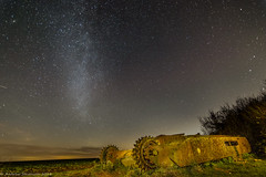 Abandoned Tank 1-1.jpg (andystevenson64) Tags: tank world war 2 south downs nightscape stars abandoned rust bullet holes milky way night time army military vehicle light painting