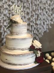 IMG_3891 (backhomebakerytx) Tags: backhomebakery back home bakery cake three tier seminaked semi naked wedding bride brides