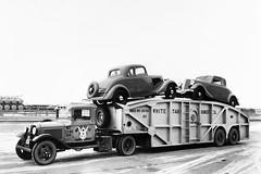 White Star Transit Co. 1934 (Houghton's RailImages) Tags: carcarrier whitestartransit truck trailertruck bw trucks trucking