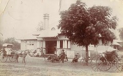Outside the Court House in Charleville, Qld - very early 1900s (Aussie~mobs) Tags: vintage australia queensland charleville courthouse sulky horsedrawn wagon