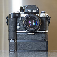 Happy Motoring! (vtom61) Tags: nikonf2 nikonfilmcamera md3 mb2 motordrive vintagecamera nikon