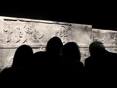Focused (sara.scaglia) Tags: london uk europe iamassurbanipal britishmuseum museum people blackandwhite archaeology art
